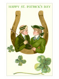 Happy St Patrick&#39;s Day  Couple in Horseshoe