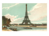 Eiffel Tower and Seine  Paris  France