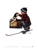 A boy meets his dog Reproduction d'art par Norman Rockwell