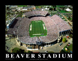 Stade de Beaver - Pennsylvanie Reproduction d'art par Mike Smith