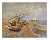 Barques sur la plage, 1888 Reproduction d'art par Vincent Van Gogh