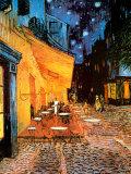 Terrasse de café le soir, place du Forum, Arles, 1888, Reproduction d'art par Vincent Van Gogh