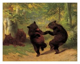 Dancing Bears Reproduction d'art par William Holbrook Beard