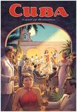 "Erickson ""Cuba Land of Romance"" Reproduction d'art par Kerne Erickson"