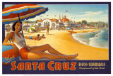 Erickson «Santa Cruz» Reproduction d'art par Kerne Erickson