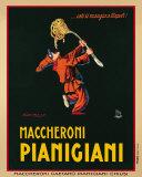 Maccheroni Pianigiani,1922 Reproduction d'art par Achille Luciano Mauzan