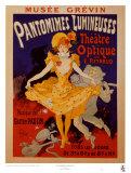 Pantomimes lumineuses (maxi carte postale) Reproduction d'art par Jules Chéret