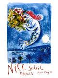 Nice Soleil Fleurs, vers 1962 Reproduction d'art par Marc Chagall