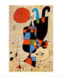 Silhouettes tête-bêche Reproduction d'art par Joan Miró