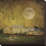 Sheep Under a Harvest Moon