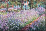 Le jardin de l'artiste à Giverny, vers 1900 Tableau sur toile par Claude Monet