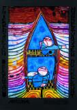 Tender Dinghi - Fragile canot Reproduction d'art par Friedensreich Hundertwasser