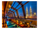 The Sky Bar in Kuala Lumpur with a view of Petronas