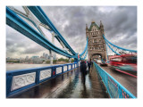 Crossing Tower Bridge in the Rain