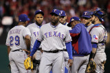 Texas Rangers v St Louis Cardinals  St Louis  MO - Oct 27: Darren Oliver and Ron Washington