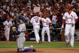 Texas Rangers v St Louis Cardinals  St Louis  MO - Oct 27: Lance Berkman and Skip Schumaker