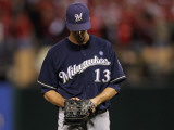 Milwaukee Brewers v St Louis Cardinals - Game Five  St Louis  MO - October 14: Zack Greinke
