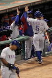 Texas Rangers v St Louis Cardinals  St Louis  MO - Oct 27: Ian Kinsler and Ron Washington