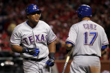 Texas Rangers v St Louis Cardinals  St Louis  MO - Oct 27: Adrian Beltre and Nelson Cruz