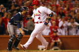 Milwaukee Brewers v Cardinals - G Five  St Louis  MO - Oct 14: Yadier Molina and Jonathan Lucroy