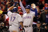 Texas Rangers v St Louis Cardinals  St Louis  MO - Oct 27: Nelson Cruz and David Murphy