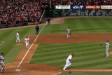 Rangers v Cardinals  St Louis  MO - Oct 27: Alexi Ogando  Yadier Molina and Lance Berkman