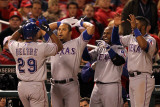 Texas Rangers v St Louis Cardinals  St Louis  MO - Oct 27: Adrian Beltre and Yorvit Torrealba