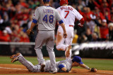 Texas Rangers v St Louis Cardinals  St Louis  MO - Oct 27: Matt Holliday and Michael Young