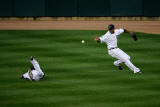 BESTPIX  Rangers v Detroit Tigers - G Five  Detroit  MI - Oct 13: Ryan Raburn and Austin Jackson