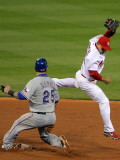 BESTPIX  Texas Rangers v St Louis Cardinals  St Louis  MO - Oct 27: Mike Napoli and Rafael Furcal
