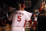 Texas Rangers v St Louis Cardinals  St Louis  MO - Oct 27: Albert Pujols and Yadier Molina