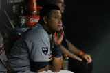 Detroit Tigers v Texas Rangers - Playoffs Game Six  Arlington  TX - October 15: Miguel Cabrera