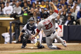 Cardinals v Milwaukee Brewers - G Six  Milwaukee  WI - Oct 16: David Freese and Jonathan Lucroy