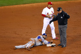 Rangers v Cardinals  St Louis  MO - Oct 27: Rafael Furcal  Greg Gibson and Mike Napoli