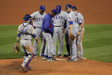 Texas Rangers v St Louis Cardinals  St Louis  MO - Oct 27: Colby Lewis and Ron Washington