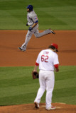 2011 G 6 - Texas Rangers v St Louis Cardinals  St Louis  MO - Oct 27: Nelson Cruz and Lance Lynn