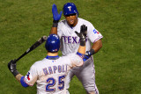 Texas Rangers v St Louis Cardinals  St Louis  MO - Oct 27: Adrian Beltre and Mike Napoli
