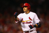 Milwaukee Brewers v St Louis Cardinals - Game Five  St Louis  MO - October 14: Yadier Molina