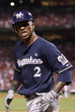 Milwaukee Brewers v St Louis Cardinals - Game Four  St Louis  MO - October 13: Nyjer Morgan