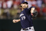 Milwaukee Brewers v St Louis Cardinals - Game Four  St Louis  MO - October 13: John Axford