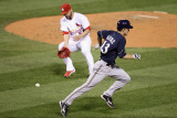 Milwaukee Brewers v Cardinals - G Five  St Louis  MO - Oct 14: Zack Greinke and Jaime Garcia