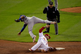 Texas Rangers v St Louis Cardinals  St Louis  MO - Oct 27: Elvis Andrus and Matt Holliday