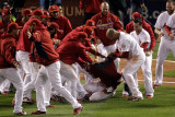 2011 World Series Game 6 - Texas Rangers v St Louis Cardinals  St Louis  MO - Oct 27: David Freese
