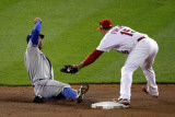 Texas Rangers v St Louis Cardinals  St Louis  MO - Oct 27: David Murphy and Rafael Furcal