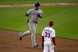 Texas Rangers v St Louis Cardinals  St Louis  MO - Oct 27: Josh Hamilton and Daniel Descalso