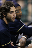 Milwaukee Brewers v Cardinals - G Five  St Louis  MO - Oct 14: Ryan Braun and Rickie Weeks