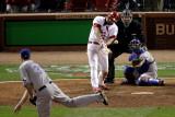 Texas Rangers v St Louis Cardinals  St Louis  MO - Oct 27: Lance Berkman and Scott Feldman