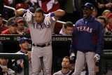 Texas Rangers v St Louis Cardinals  St Louis  MO - Oct 27: Yorvit Torrealba and Ron Washington