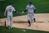 Texas Rangers v Detroit Tigers - Game Five  Detroit  MI - October 13: Ian Kinsler and Michael Young