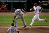 Rangers v Cardinals  St Louis  MO - Oct 27: Lance Berkman  Colby Lewis and Michael Young
